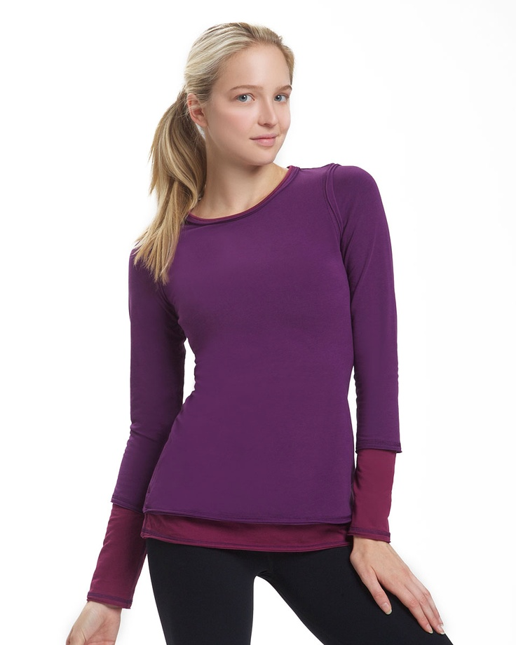 Layer-up Long Sleeve TeeExercise Style, Fit Clothing, Fashion Ideas, Layered Up Long, Long Sleeve, Fitness Clothing, Nancy Rose, Exercies Style, Bar Method