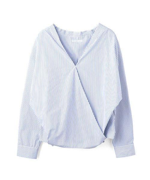 ESTNATION WOMEN(ウィメン)のESTNATION カシュクールシャツ(シャツ/ブラウス) ブルー系その他