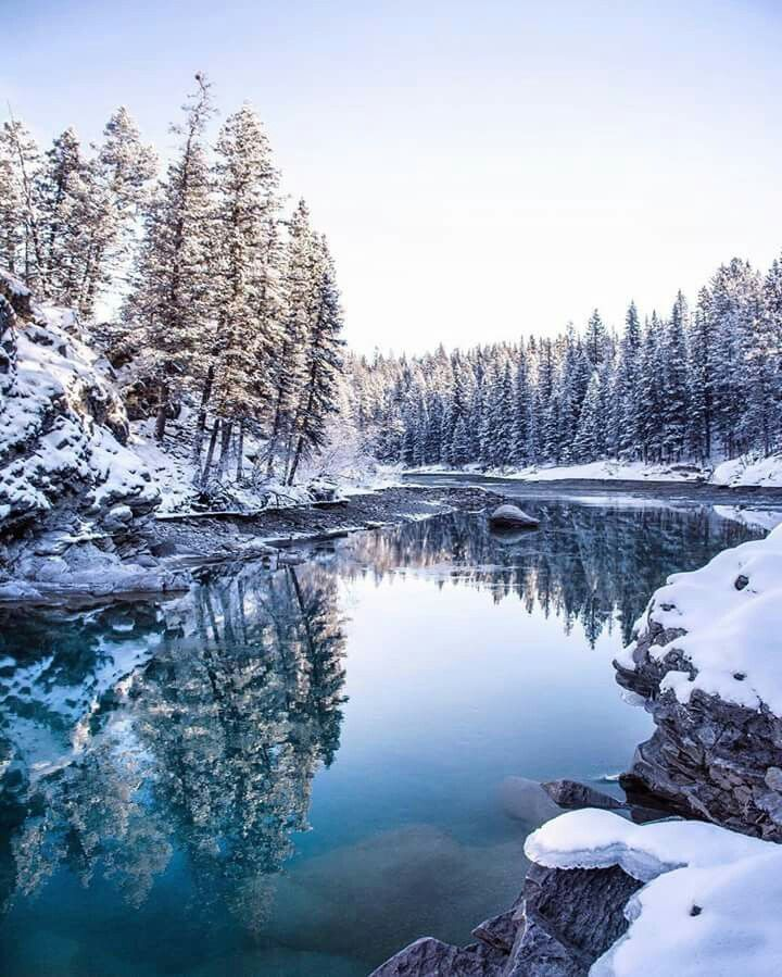 Canoe meadows in kananaskis alberta canada winter