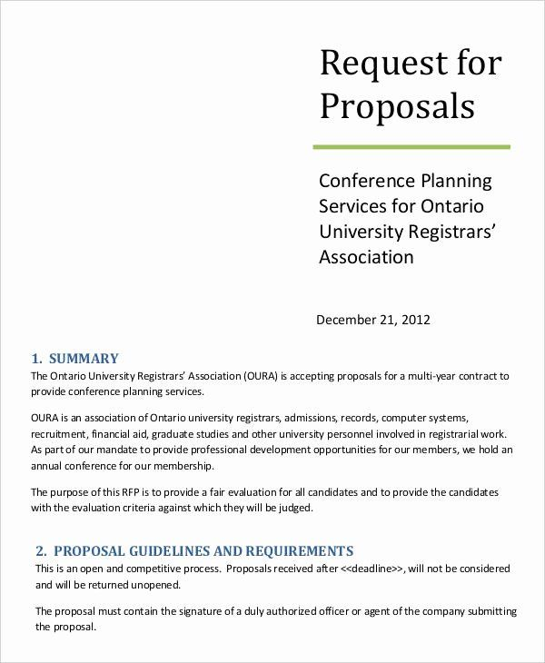 Simple Request For Proposal Example Inspirational 14 Request For Proposal Templates Free Sam Request For Proposal Proposal Templates Business Proposal Template