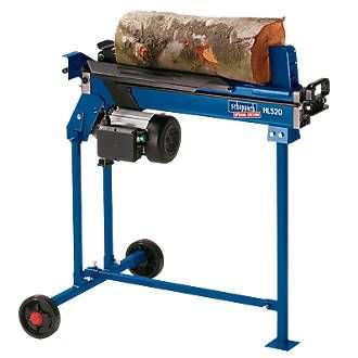 Order online at Screwfix.com. Extremely quiet log splitter with 5 tonness of ram splitting force. Capable of splitting green and seasoned logs up to 520mm long and 250mm in diameter. Also capable of splitting up to 100 logs per hour. Can be used on the ground or mounted on its wheeled stand. Sealed hydraulic cylinder ensures maintenance-free usage. FREE next day delivery available, free collection in 5 minutes.