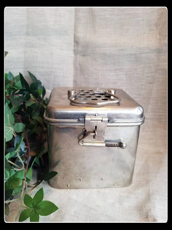 Vintage hospital disinfection box medical supplies
