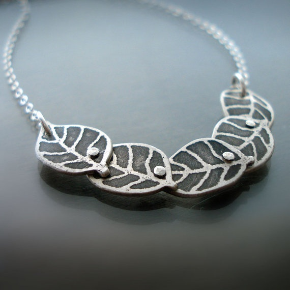 Five Tiny Leaves Necklace by Lisa Hopkins Design: Clothes, Leaf Necklace, Lisa Hopkins, Tiny Leaves, Necklaces, Hopkins Design, Accessories, Products