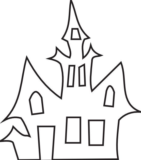 haunted_house_black_white_art_boaz_breton_halloween-555px.png (555×627)