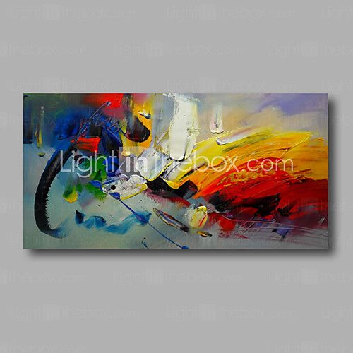 "Ready to hang Stretched Hand-Painted Oil Painting Canvas  40""x20"" Wall Art Abstract Orange Yellow Red Blue - GBP £58.87 ! HOT Product! A hot product at an incredible low price is now on sale! Come check it out along with other items like this. Get great discounts, earn Rewards and much more each time you shop with us!"