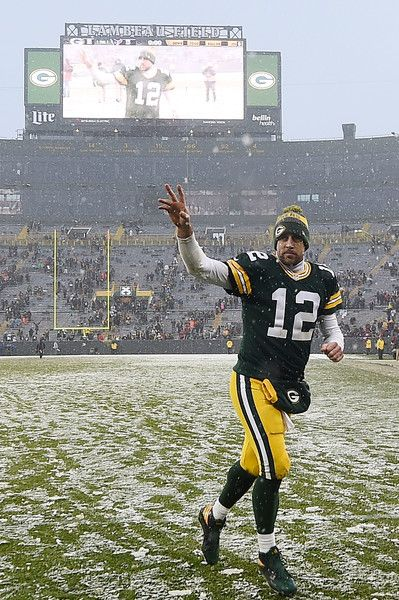 Aaron Rodgers #12 of the Green Bay Packers leaves the field following a game against the Houston Texans at Lambeau Field on December 4, 2016 in Green Bay, Wisconsin. Green Bay defeated Houston 21-13.
