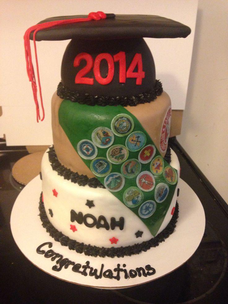 High School Graduation/ Eagle Scout Cake