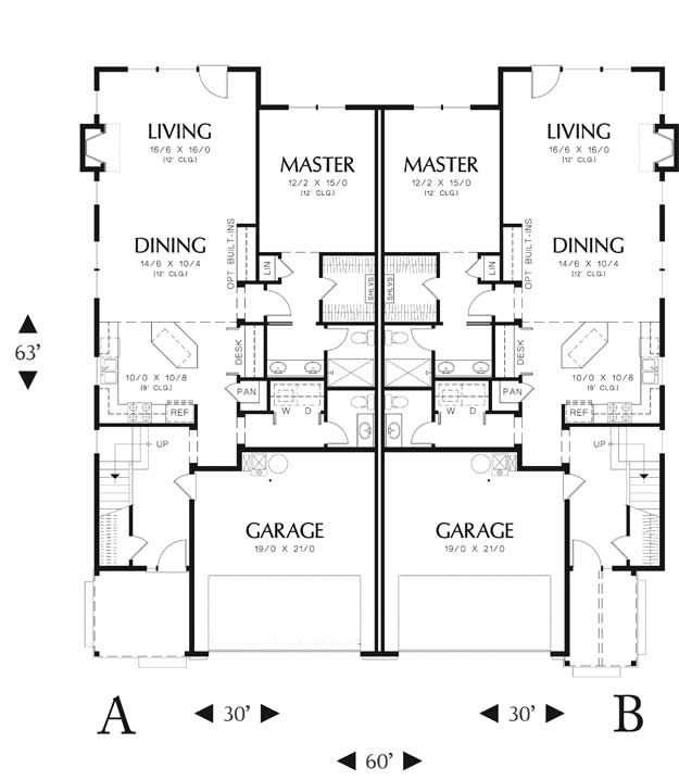 1000 Images About Semi Detached Plans On Pinterest