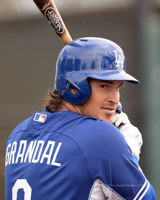 Yasmani Grandal - Los Angeles Dodgers workout