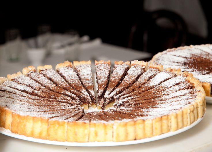 Choc espresso hazelnut tart