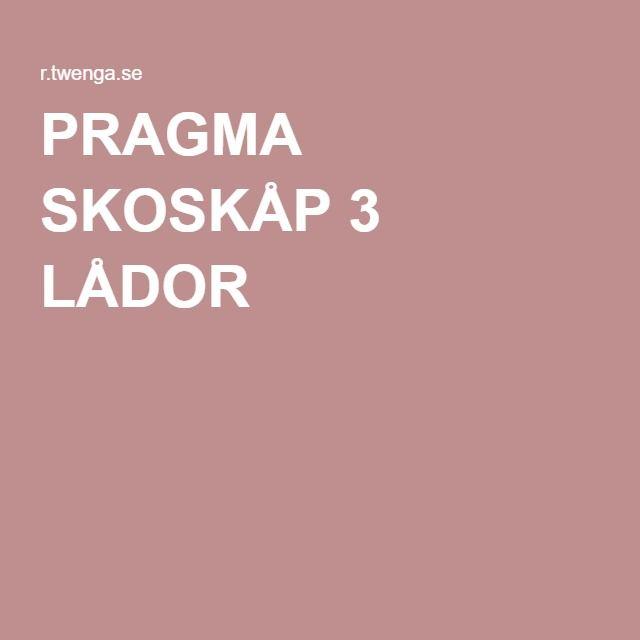 PRAGMA SKOSKÅP 3 LÅDOR