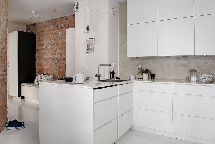 foorni.pl | Gustowne 57 m2 w stylu skandynawskim, białe meble kuchenne