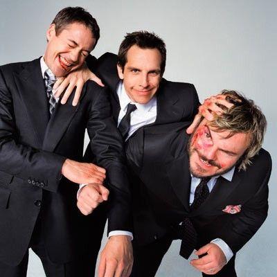 Robert Downey Jr, Ben Stiller and Jack Black
