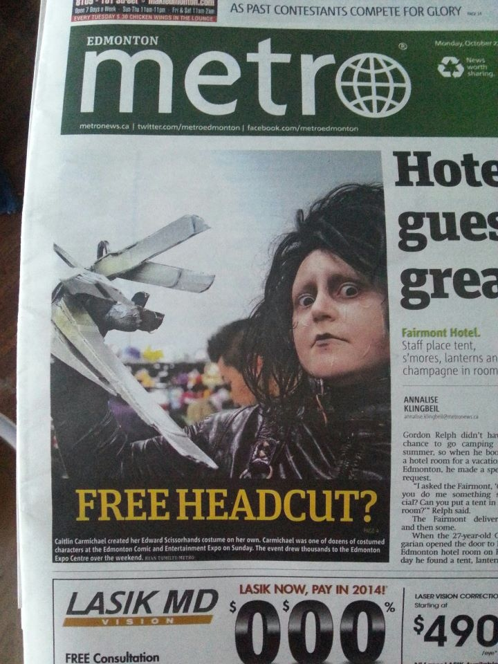 Featured on the front page of a local newspaper <3
