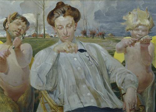 Jacek Malczewski, Portret żony, 1905.