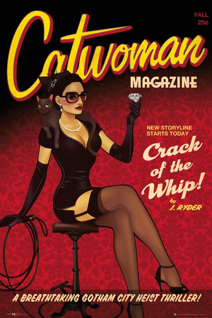 Batman DC Comics Bombshells Catwoman - Official Poster. Official Merchandise. Size: 61cm x 91.5cm. FREE SHIPPING