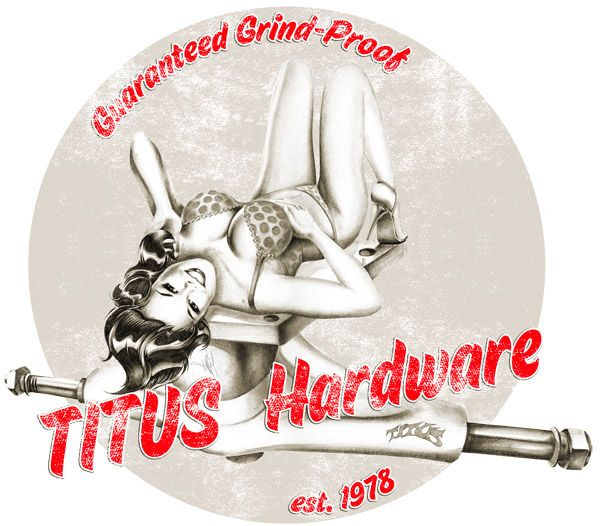 Old school Pin Up Illustrations for Skateboard Deck Prints and T-Shirts