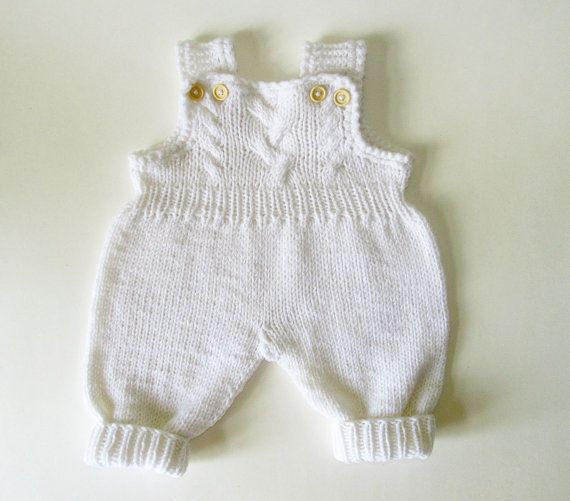 Baby girl overall baby girl jumpsuit  knit romper by iziknittings, $33.00