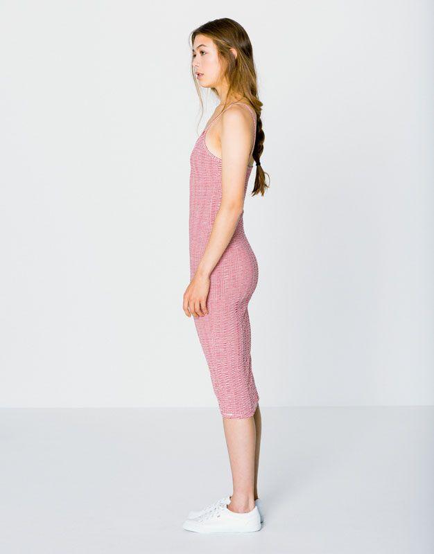 STRIPED MID-LENGTH TANK DRESS - DRESSES - WOMAN - PULL&BEAR United Kingdom