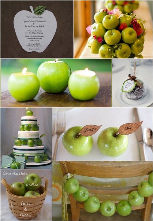 green apple wedding | ... Wedding by Color, Ehow.com, Intimate wedding, Gourmet wedding favor