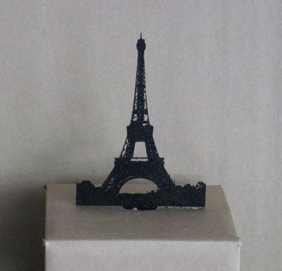 Cake Topper Eiffel Tower Silhouette by Plasticsmith on Etsy, $15.00