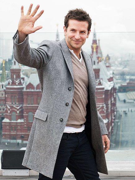 Star Tracks: Wednesday, February 5, 2014 - Bradley Cooper in Russia promoting American Hustle on Wednesday.