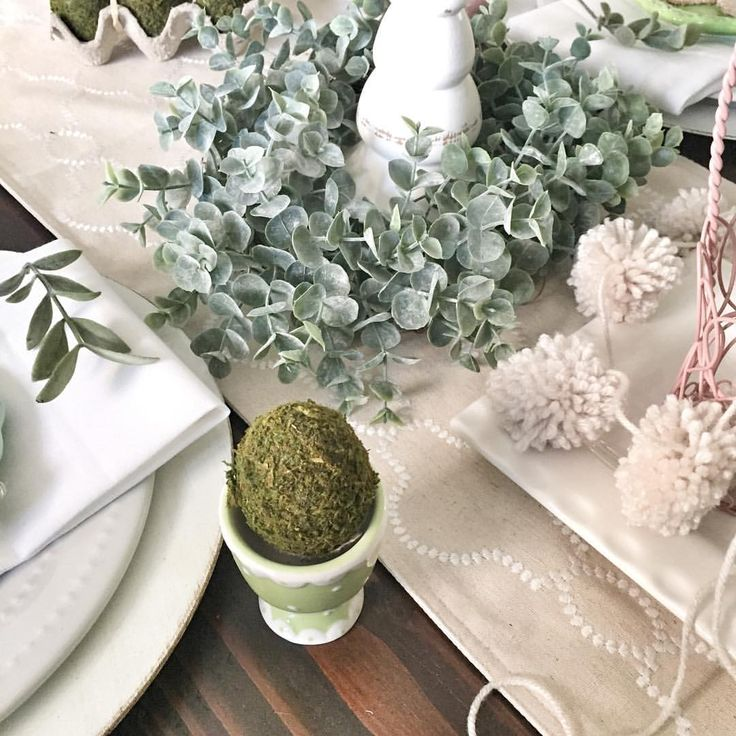 """Easter table decor  68 Likes, 11 Comments - LeAnn Hodges (@gaschenaveandco) on Instagram: """"Some of my sweetest {#onetofollow} friends tagged me to share for some fun Wednesday hashtags.…"""""""