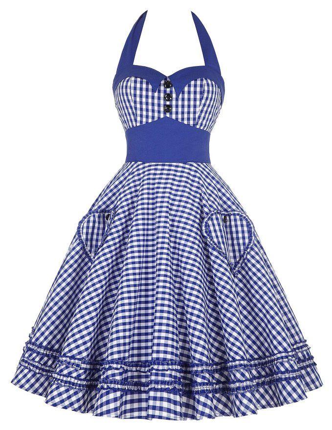 Classic 60s Knee Length Plaids Pattern Bridesmaid Dresses JS6091-4_S