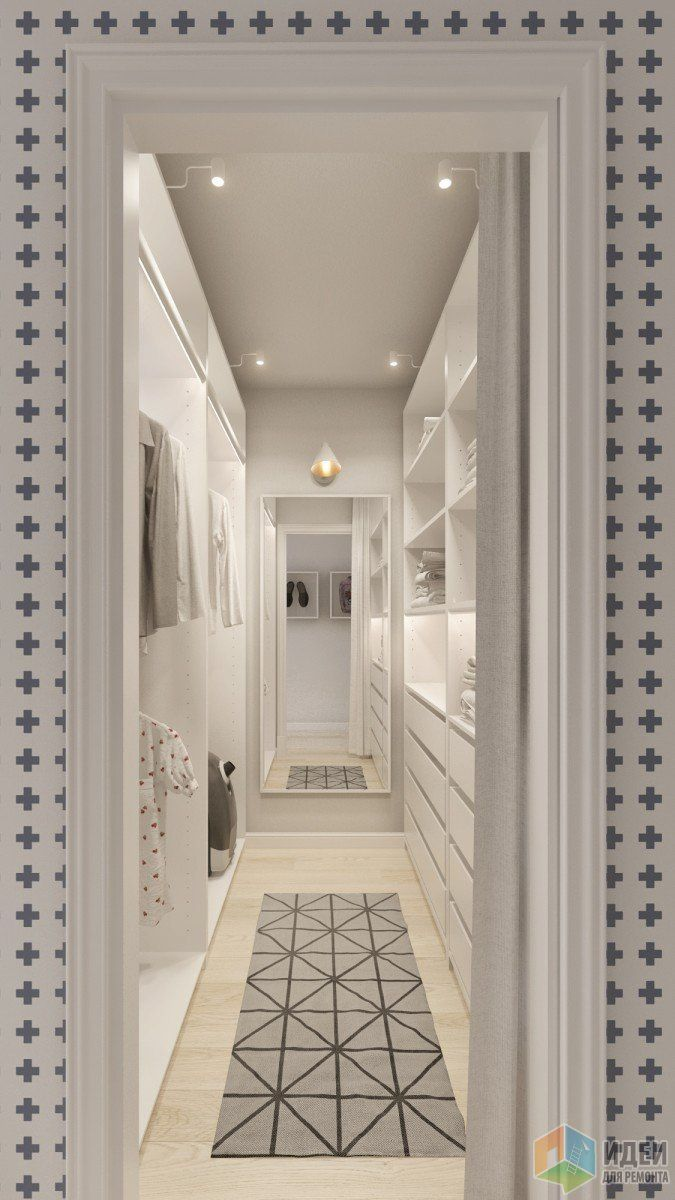 Интерьер в скандинавском стиле, дизайн коридора