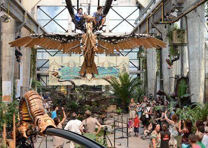 The Grand éléphant and Galerie of the Machines de l'Ile