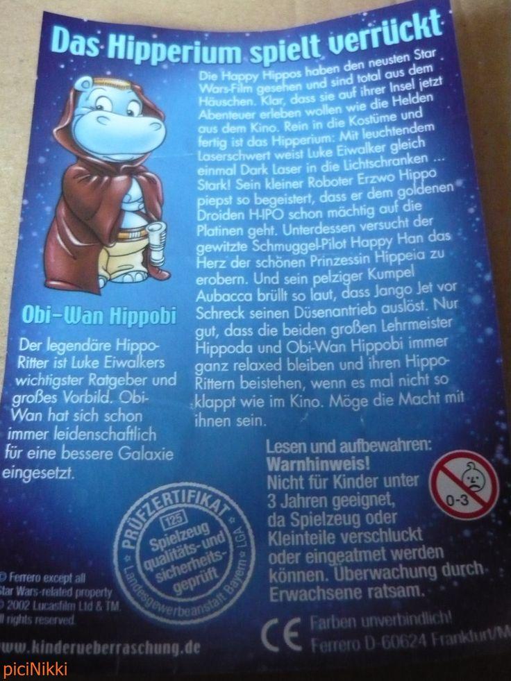 No. 25 | víziló | hippo | Happy Hippo | Kinder | Obi-Wan Hippobi | Star Wars