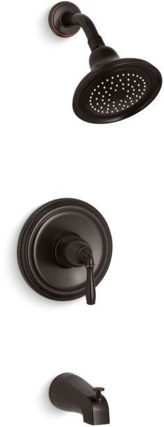Kohler K-TS395-4 Devonshire Tub and Shower Trim Package with Single Function Sho Oil Rubbed Bronze (2BZ) Faucet Tub and Shower Single Handle