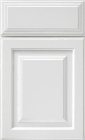 White Raised Panel Fancy drawer