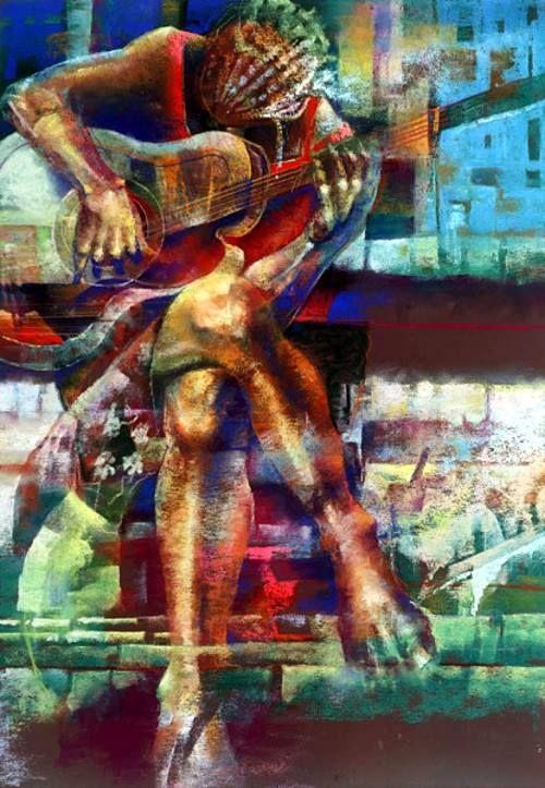 Femaleguitar By Paul Goodnight It Art Muse Pinterest