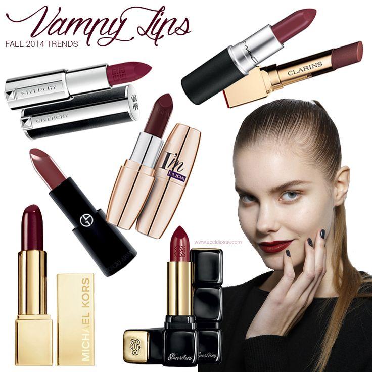 Vampy Lips per l'Autunno 2014: i migliori rossetti dalle collezioni autunnali | #lipstick #oxblood #red #dark