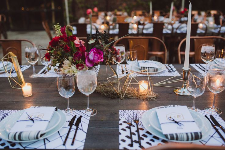 Interested what you think about these florals with the shapes? I have been toying with the best way to incorporate pattern into the tables but don't want it to compete with center pieces.