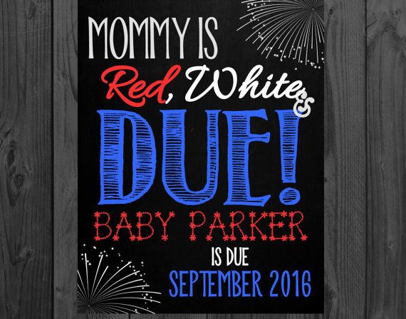 4th of july pregnancy announcement shirt
