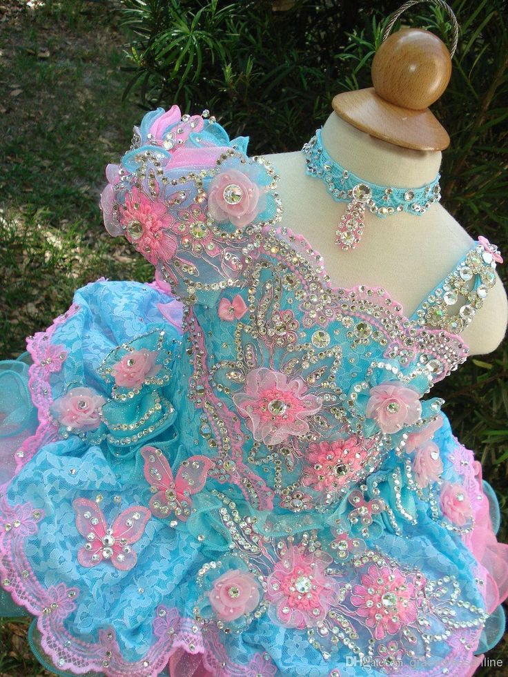 Toddler Girls Easter Dresses Girl'S Glitz Pageant Dresses 2014 Ball Gown Organza Lace Flower Girl Dress Hand Made Flowers Beads Crystals Tiers Girl Gowns Little Girls Dresses From Gracedressonline, $57.6| Dhgate.Com