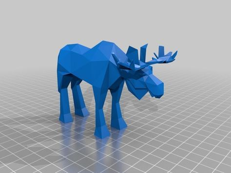 Low Poly Moose by corben33 Thingiverse 3D Print / 3D