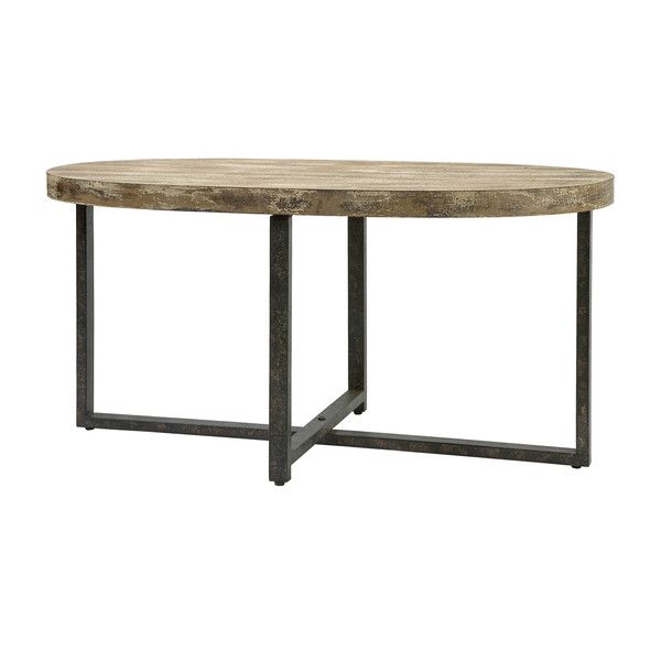 Loxley Wood And Iron Coffee Table