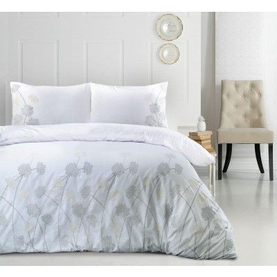 JANET 100%COTTON EMBROIDERY 180 THREAD COUNT PERCALE DUVET COVER PILLOWCASES SET