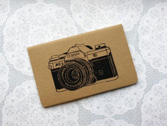 Vintage camera note book canon small notepad Retro