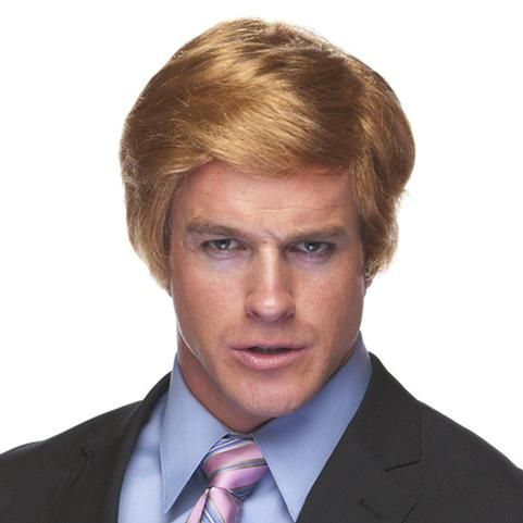 Donald Trump Wig strawberry blonde comb-over by Characters at WigsUnlimited.com