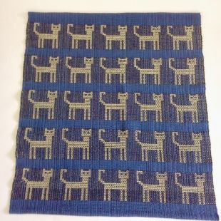 Cats and more Cats Dish Towel woven by Sherrie Miller on Weavolution