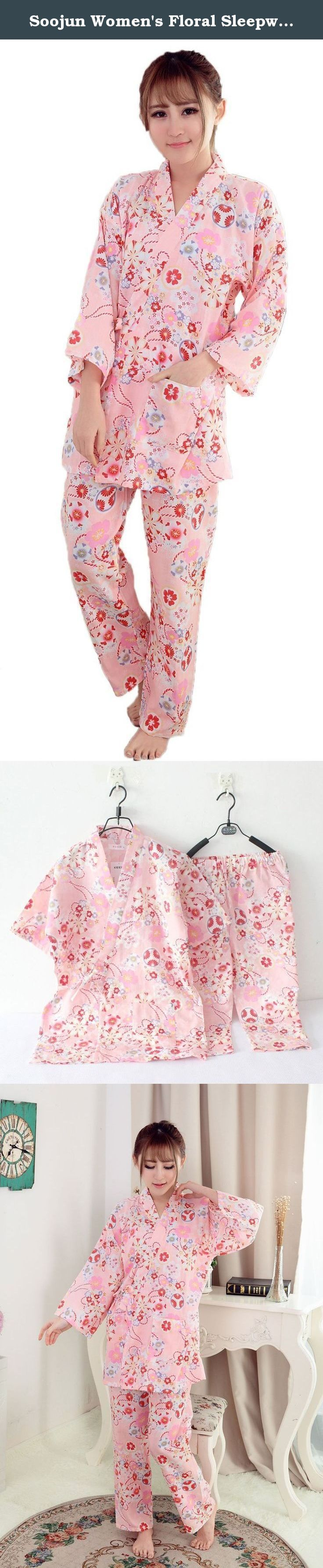 Soojun Women's Floral Sleepwear Kimono Robe and Pant Pajamas Set, US 6-10 Pink. We use post service (USPS, etc), express service (Fedex, DHL, UPS etc) to ship your package. You can easily get estimated delivery date when you place the order. We will never stop to pursuit your perfection. If you happen to have any other questions or concerns, please do not hesitate to contact us via e-mail. We will reply you within 8 hours by email. .