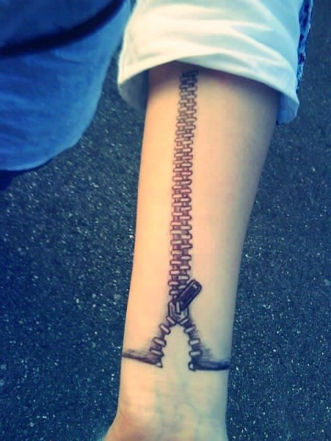 ZIPPER tattoo