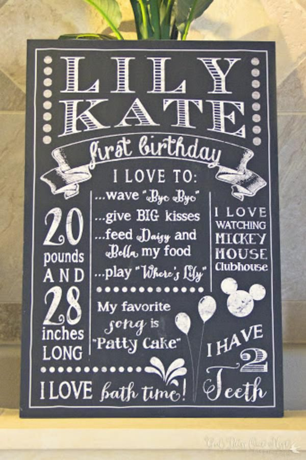 Shabby Chic Girl Vintage 1st Birthday Party Planning Ideas... this is a cute idea for scrapbook (since we already passed her birthday)