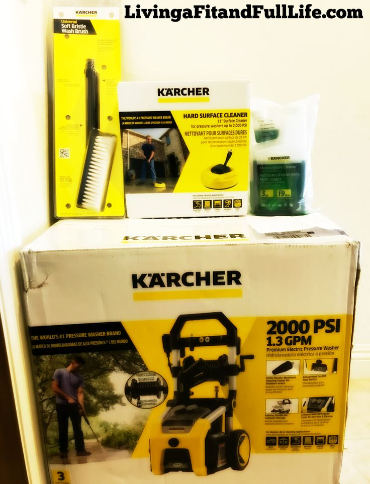 Get the Cleaning Power You Need with Kärcher's K2000 Electric Pressure Washer & Accessories! #FATHERSDAY @karcherme