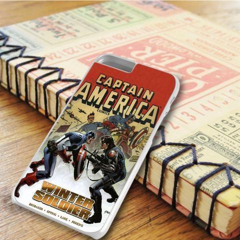 Captain America Winter Soldier Comic Superheroes iPhone 6 Plus|iPhone 6S Plus Case
