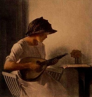 Ilsted, Peter (1861-1933) - Playing The Mandolin, 1911